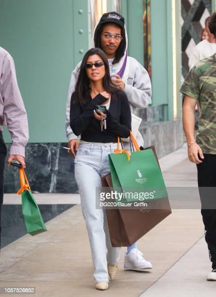 Luka Sabbat and Kourtney Kardashian are seen on November 04 2018 in Los Angeles California