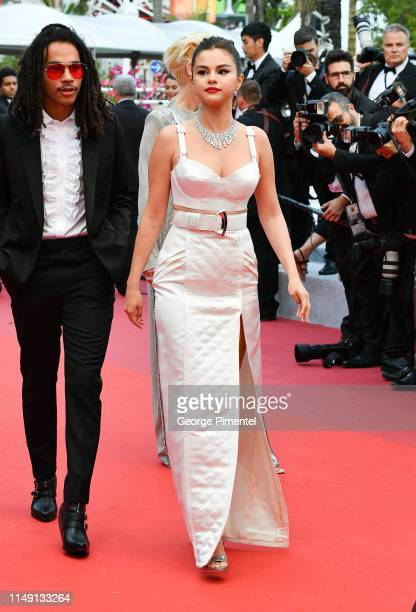 Luka Sabbat and Selena Gomez attend the opening ceremony and screening of The Dead Don't Die during the 72nd annual Cannes Film Festival on May 14...