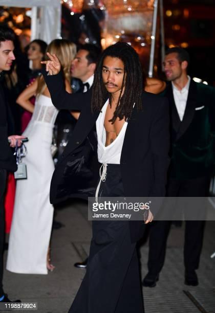 Luka Sabbat arrives to the amfAR Gala New York 2020 at Cipriani Wall Street on February 5 2020 in New York City