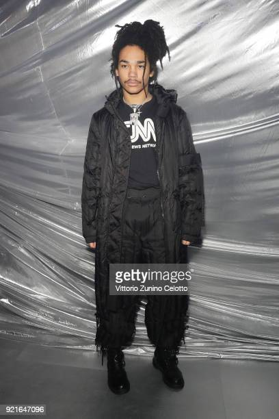 Luka Sabbat attends Moncler Genius during Milan Fashion Week on February 20 2018 in Milan Italy