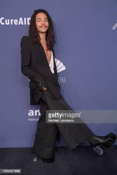 Luka Sabbat attends the 2020 amfAR New York Gala on February 05 2020 in New York City