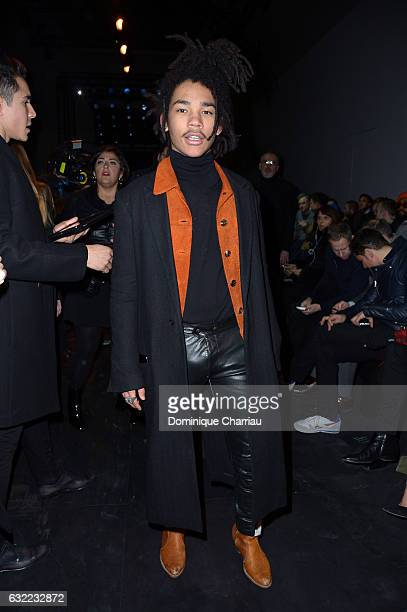Luka Sabbat attends the Berluti Menswear Fall/Winter 20172018 show as part of Paris Fashion Week on January 20 2017 in Paris France