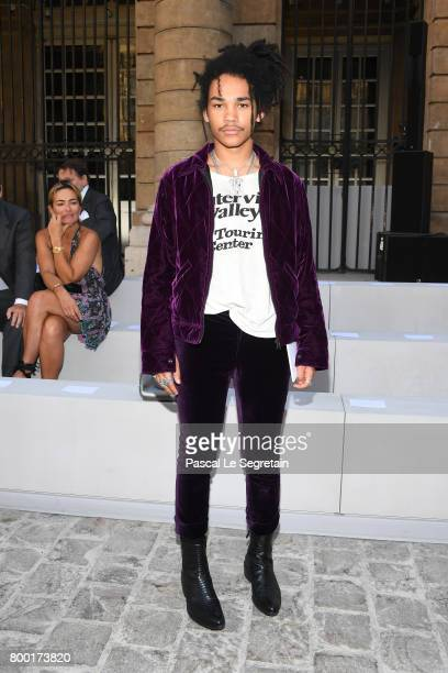 Luka Sabbat attends the Berluti Menswear Spring/Summer 2018 show as part of Paris Fashion Week on June 23 2017 in Paris France