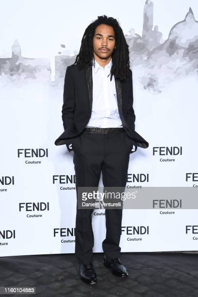 Luka Sabbat attends the Cocktail at Fendi Couture Fall Winter 2019/2020 on July 04 2019 in Rome Italy