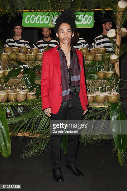 Luka Sabbat attends the Dolce And Gabbana show during Milan Fashion Week Spring/Summer 2017 on September 25 2016 in Milan Italy