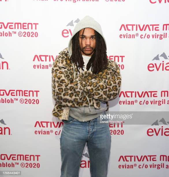 Luka Sabbat attends the Evian Virgil Abloh Collaboration party at Milk Studios on February 10 2020 in New York City