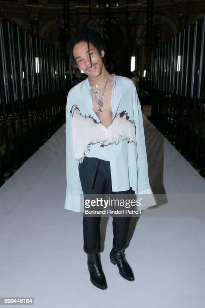 Luka Sabbat attends the Haider Ackermann Menswear Spring/Summer 2018 show as part of Paris Fashion Week on June 21 2017 in Paris France