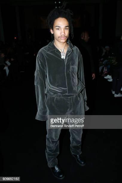 Luka Sabbat attends the Haider Ackermann show as part of the Paris Fashion Week Womenswear Fall/Winter 2018/2019 on March 3, 2018 in Paris, France.
