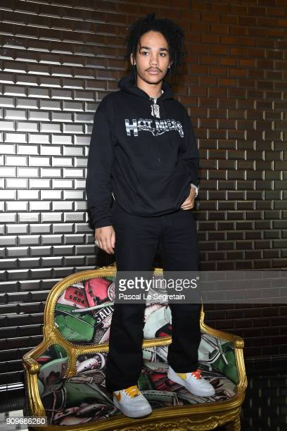 Luka Sabbat attends the JeanPaul Gaultier Haute Couture Spring Summer 2018 show as part of Paris Fashion Week on January 24 2018 in Paris France
