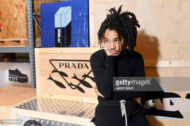 Luka Sabbat attends the Prada Linea Rossa event at Prada Broadway NY on Sept 8 2018
