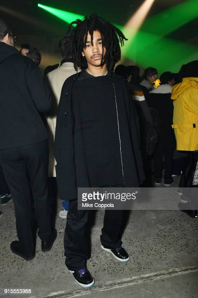 Luka Sabbat attends the Raf Simons runway show during New York Fashion Week Mens' on February 7 2018 in New York City