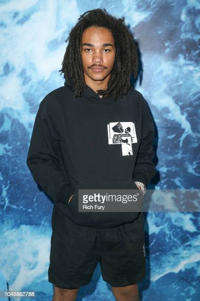 Luka Sabbat attends the UGG 40 Years Anniversary Celebration at Chateau Marmont on October 4 2018 in Los Angeles California