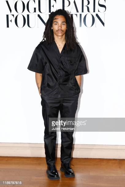 Luka Sabbat attends the Vogue diner as part of Paris Fashion Week Haute Couture Fall Winter 2020 at Le Trianon on July 02 2019 in Paris France