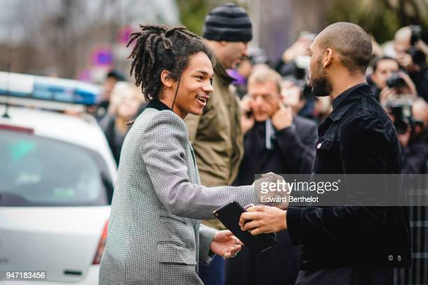 Luka Sabbat is seen outside Dior during Paris Fashion Week Menswear Fall Winter 20182019 on January 20 2018 in Paris France