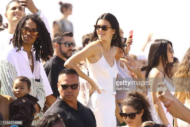 Luka Sabbat Kendall Jenner and Kourtney Kardashian attend Sunday Service during the 2019 Coachella Valley Music And Arts Festival on April 21 2019 in...