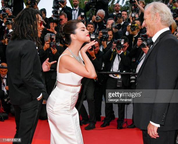 Luka Sabbat Selena Gomez and Bill Murray attend the opening ceremony and screening of The Dead Don't Die during the 72nd annual Cannes Film Festival...