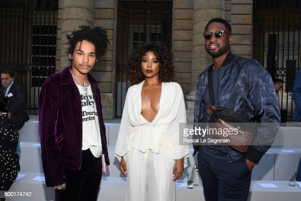 Luka SabbatGabrielle Union and Dwyane Wade attend the Berluti Menswear Spring/Summer 2018 show as part of Paris Fashion Week on June 23 2017 in Paris...