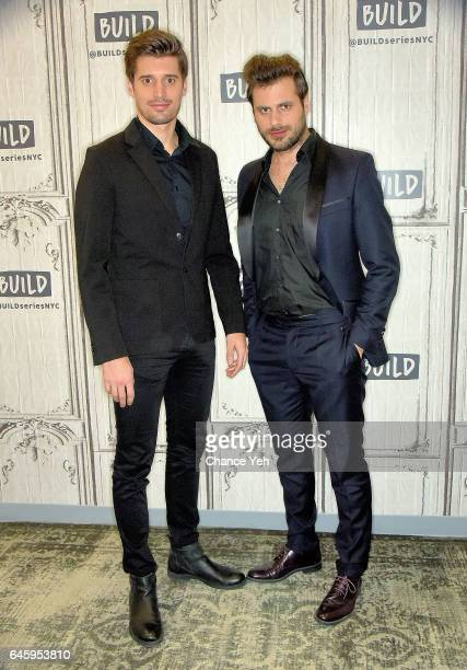 Luka Sulic and Stjepan Hauser of 2Cellos attend Build series to discuss Score at Build Studio on February 27 2017 in New York City