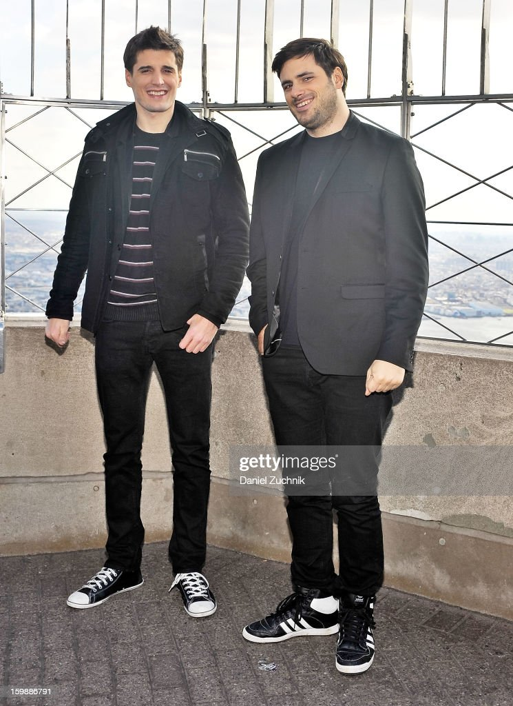 Luka Sulic and Stjepan Hauser of 2Cellos visit The Empire State