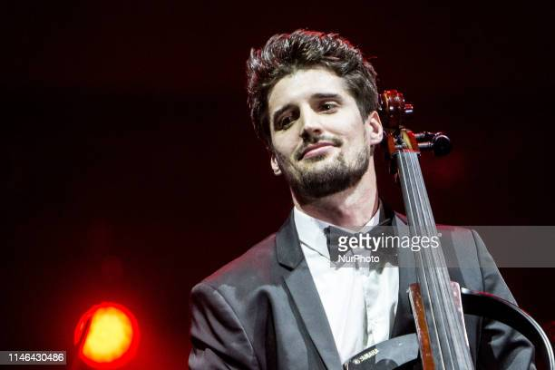 Luka Sulic of Croatian cello duo 2Cellos performs live at Mediolanum Forum Luka Sulic and Stjepan Hauser perform internationally and have been...