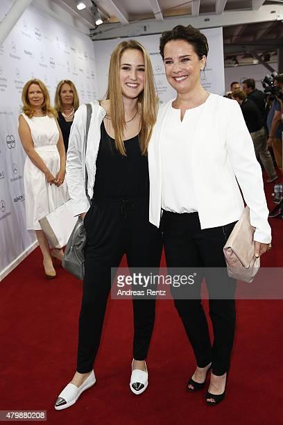 Luka TeresaGerda Kloser and Desiree Nosbusch attend the Minx by Eva Lutz show during the MercedesBenz Fashion Week Berlin Spring/Summer 2016 at...
