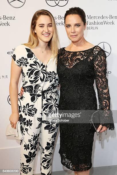 Luka TeresaGerda Kloser and Desiree Nosbusch attend the Minx by Eva Lutz show during the MercedesBenz Fashion Week Berlin Spring/Summer 2017 at Erika...