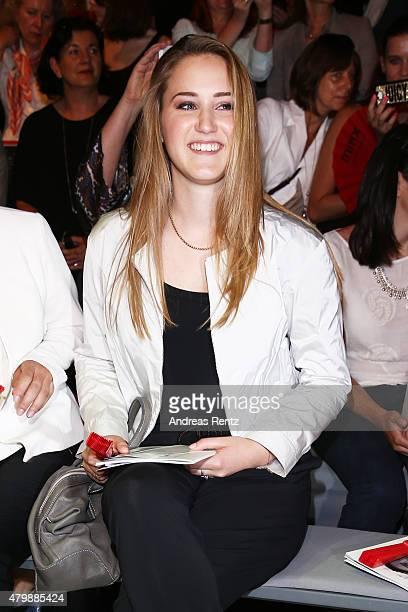 Luka TeresaGerda Kloser attends the Minx by Eva Lutz show during the MercedesBenz Fashion Week Berlin Spring/Summer 2016 at Brandenburg Gate on July...