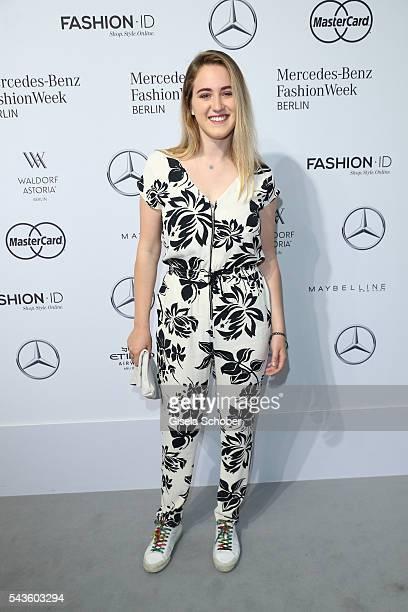 Luka TeresaGerda Kloser attends the Minx by Eva Lutz show during the MercedesBenz Fashion Week Berlin Spring/Summer 2017 at Erika Hess Eisstadion on...