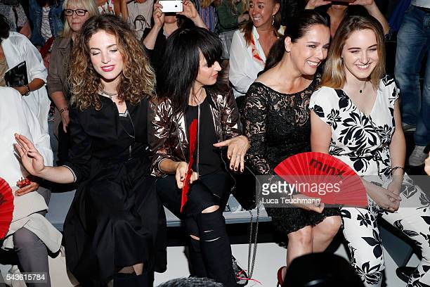 Luka TeresaGerda Kloser Desiree Nosbusch Nena and Larissa Kerner attend the Minx by Eva Lutz show during the MercedesBenz Fashion Week Berlin...
