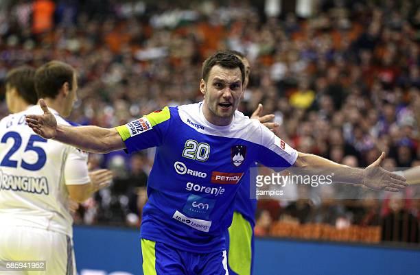 Luka ZVIZEJ Handball Männer Europameisterschaft 2012 in Serbien Hauptrunde : Frankreich - Slowenien 10 th mens european championchip in Serbia...