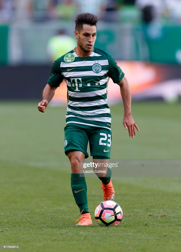 Lukacs Bole of Ferencvarosi TC controls the ball during the Hungarian OTP Bank Liga match between Ferencvarosi TC and Puskas Akademia FC at Groupama Arena on July 16, 2017 in Budapest, Hungary.