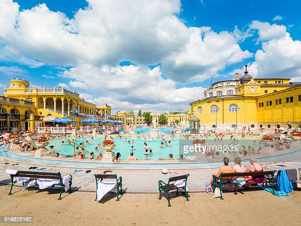 lukacs thermal baths in budapest, hungary - budapest stock pictures, royalty-free photos & images