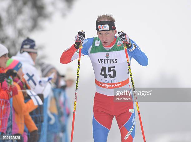 Lukas Bauer from Czech Republic takes the 9th place in Men 15km Classic at FIS CrossCountry World Cup Podium in Lahti Finland Sunday 8 March 2015...