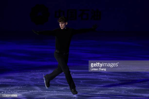 Lukas Britschgi of Switzerland performs in the gala exhibition during day 4 of the 2021 Asia Open Figure Skating test event for the Beijing 2022...