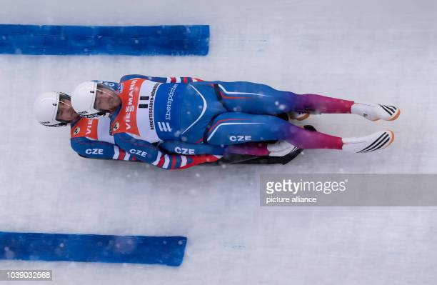 Lukas Broz and Antonin Broz in action at the Luge World Cup in Koenigssee Germany 05 January 2017 Photo Sven Hoppe/dpa | usage worldwide
