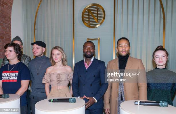 Lukas Graham Zara Larsson David Oyelowo John Legend and Sigrid attend the press conference ahead of the Nobel Peace Prize Concert 2017 at the...