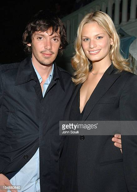 Lukas Haas and Vicky Andren during 2005 Cannes Film Festival Jana Water Presents Party Inside at The Manray House in Cannes France