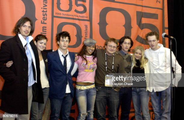 Lukas Haas Nora Zehetner Noah Segan Meagan Good Rian Johnson Rian Johnson director and writer of 'Brick' Joseph GordonLevitt and Emilie De Ravin and...