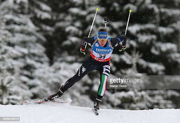 Lukas Hofer of Italy competes in the men's 10km sprint event during the IBU Biathlon World Cup on December 6 2013 in Hochfilzen Austria