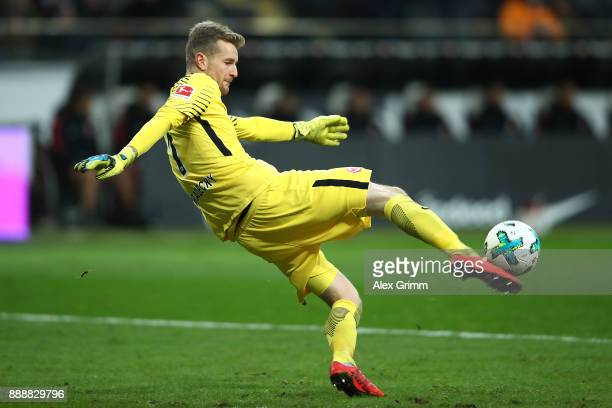 Lukas Hradecky of Frankfurt during the Bundesliga match between Eintracht Frankfurt and FC Bayern Muenchen at CommerzbankArena on December 9 2017 in...