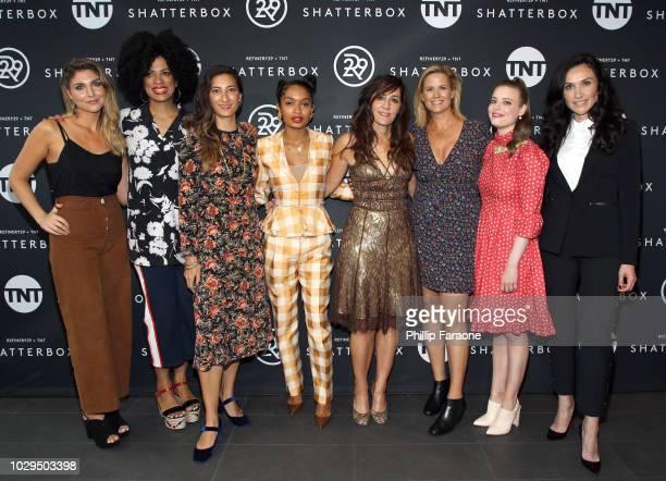 Lukas, Janine Sherman Barrois, Jessica Sanders, Yara Shahidi, Gillian Barnes, Allana Harkin, Gillian Jacobs, and Ivy Agregan celebrate Shatterbox...
