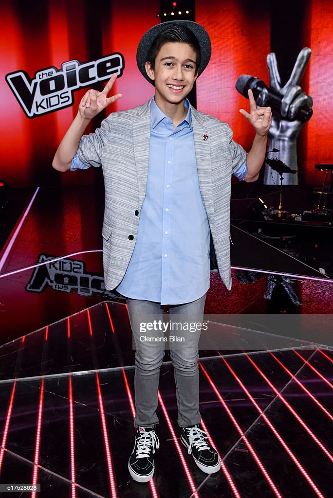 Lukas Janisch Poses During The The Voice Kids Finals On March 25