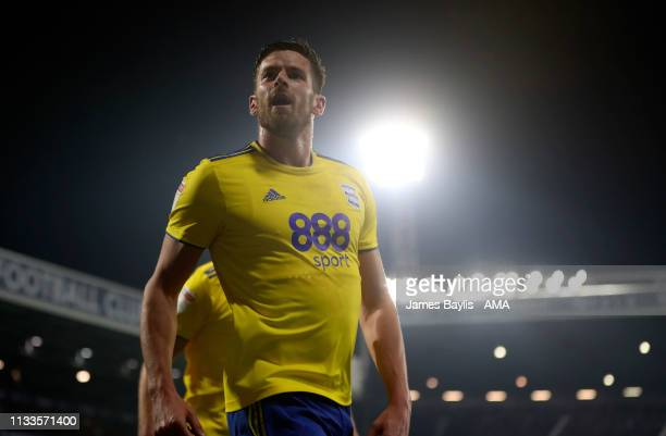 Lukas Jutkiewicz of Birmingham City celebrates after scoring a goal to make it 1-2 during the Sky Bet Championship match between West Bromwich Albion...