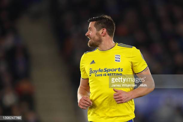 Lukas Jutkiewicz of Birmingham City during the FA Cup Fifth Round match between Leicester City and Birmingham City at The King Power Stadium on March...