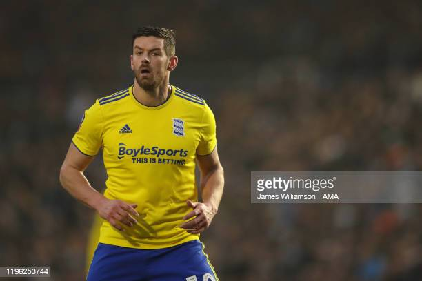 Lukas Jutkiewicz of Birmingham City during the FA Cup Fourth Round match between Coventry City and Birmingham City at St Andrew's Trillion Trophy...