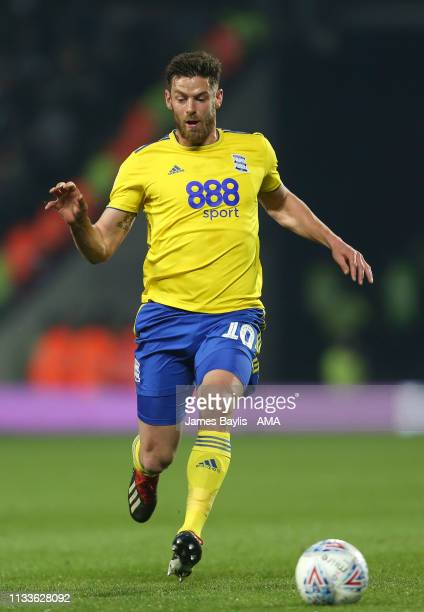 Lukas Jutkiewicz of Birmingham City during the Sky Bet Championship match between West Bromwich Albion and Birmingham City at The Hawthorns on March...