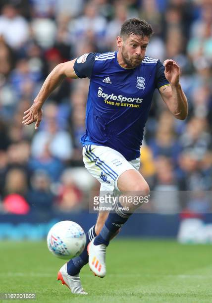 Lukas Jutkiewicz of Birmingham City during the Sky Bet Championship match between Birmingham City and Bristol City at St Andrew's Trillion Trophy...