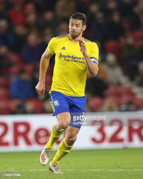 Lukas Jutkiewicz of Birmingham City during the Sky Bet Championship match between Middlesbrough and Birmingham City at the Riverside Stadium,...