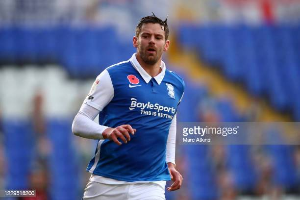 Lukas Jutkiewicz of Birmingham City during the Sky Bet Championship match between Birmingham City and AFC Bournemouth at St Andrew's Trillion Trophy...