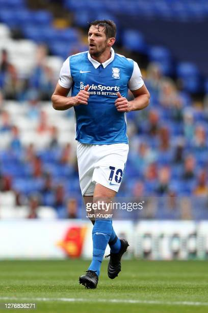 Lukas Jutkiewicz of Birmingham City during the Sky Bet Championship match between Birmingham City and Rotherham United at St Andrew's Trillion Trophy...